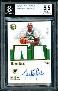 2019 Tacko Fall Panini Encased Rookie Auto Patch Gold /10 RC BGS 8.5 NM-MT+