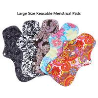 Large Size Reusable Bamboo Cloth Washable Menstrual Pad Mama Sanitary Towel Pads
