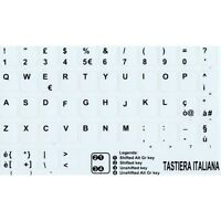 ADESIVI LETTERE ITALIANO TASTIERA STICKERS ITALIANO BIANCO PC MADE IN ITALY