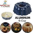 Bundt Pan Bakeware Aluminum Fiesta Party Tool Cake Mold Sculpted 6 Cup Navy NEW