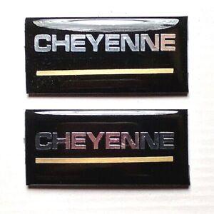 88-94 Chevrolet Cheyenne 2pc Roof Pillar Cab Emblem Badge Nameplate Side NEW