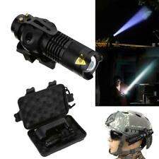 Airsoft Paintball Helmet Single Clamp Mount Mini LED Flashlight Lamp 4 Modes DY