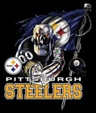 (2) Pittsburgh Steelers Robot Bot Vinyl Sticker Decal Full Color Car Window 5x4.