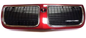 New NOS Front Grille Assy 1989-1991 Pontiac Grand Am Color Brilliant Red