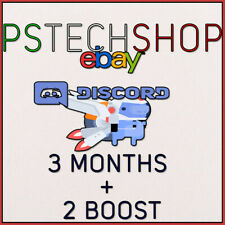 DISCORD NITRO 3 MONTHS + 2 BOOST | REGION FREE - GLOBAL | FAST DELIVERY !