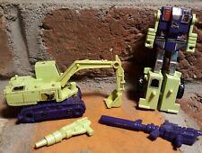 Vtg Hasbro G1 Transformers Constructicons DEVASTATOR Rifle GUN figure lot set g2