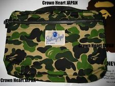 New A Bathing Ape Abc Camo Music Pouch Green Camo Auth from Bape Japan