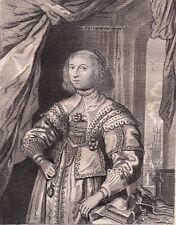 Portrait XVIIIe Anne-Marie de Schurman Van Schurman Poétesse J. De Labadie 1786