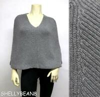RALPH LAUREN BLACK LABEL Wool CASHMERE Angora PONCHO Sweater Top L 10 12 $750
