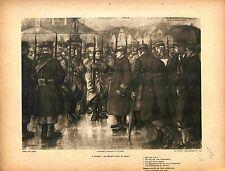 à Guéret Départ des Poilus Soldats pour le Front la Marne Lucien Jonas 1914 WWI