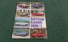 1980 1981 DATSUN RANGE BROCHURE CHERRY SUNNY VIOLET BLUEBIRD LAUREL 280C 280ZX