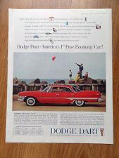 1960 Dodge Dart Ad America's 1st Fine Economy Car