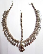 NEW BELLY DANCE KUCHI TRIBAL OXIDIZED HEAD PIECE DAMNI TIKKA JEWELRY INDIA