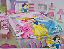 ~ Disney Princess - DOUBLE BED DOONA QUILT DUVET COVER & CUSHION US Full