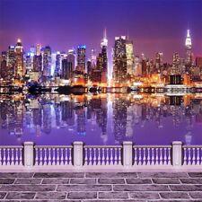 Night City View 6x6ft Vinyl Photography Backdrop Photo Background Studio Props