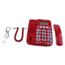 Large Number Retro Telephone Fast Dial Corded Family Home KX-2035CID Red
