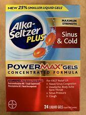 Alka-Seltzer PLUS Maximum Strength PowerMax Gels Sinus & Cold 24 Liquid Gels