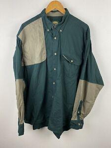 Cabela's Mens Shirt Size XL Long Sleeve Button Up Regular Fit Heavyweight Green