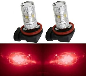 LED 30W H9 Red Two Bulbs Head Light High Beam Replacement Show Use OE Fit