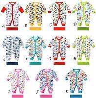 Baby Footless Cotton BabyGrow Sleepsuits Romper Sleepwear Playsuits,6,12,18,24m