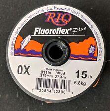 RIO Flouroflex Plus Flourocarbon Tippet 0X 15lb 30 yds NEW