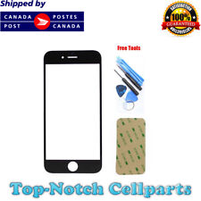 iPhone 4 4G Black Front Glass Lens with Adhesive and Free Tools