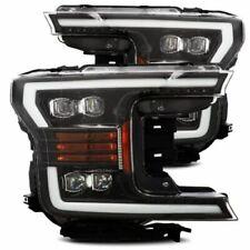 Alpha Rex 880180 NOVA LED Projector Headlights Jet Black For 2018-2020 Ford F150