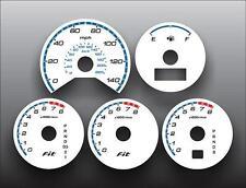 2007-2008 Honda Fit White Face Gauges 07-08