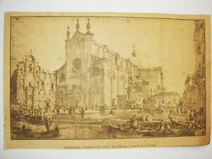 FRANCESCO GUARDI (Ristampa)-Disegno preparatorio-San Giovanni e S.Paolo Venezia