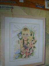 Springflower Girl Lanarte Cross Stitch Kit - Maria Van Scharrenburg NEW
