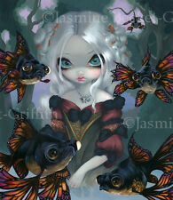 Jasmine Becket-Griffith art print SIGNED Poissons Les Yeux Globuleux flying fish