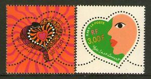 TIMBRES 3295-3296 NEUF XX LUXE - COEURS DE YVES SAINT LAURENT - SAINT VALENTIN