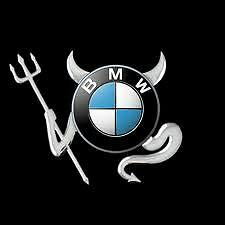 3D Chrome Devil Decal Car / Truck Custom Demon Stickers W/ Horns 4 Pieces BMW!!