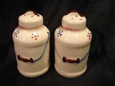 Vintage.....Milk Cans....Hand Painted......Salt & Pepper Shakers