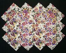"FLORAL GARDEN 6.5"" Squares, 100% Cotton, Prewashed Quilt Fabric  (#E/103A)"