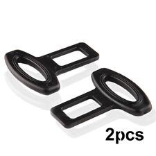2x Clasp Plug Car Auto Seat Belt Extender Safe Buckle Clip Alarm Stopper Durable