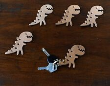 Mr Zhou Featured Little Dinosaur Tag Key Ring # Vege Leather Tag with Brass Ring