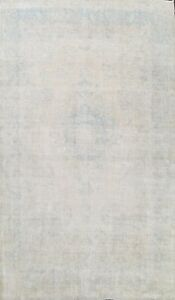 Antique Muted Distressed Hand-knotted Traditional Evenly Low Pile Area Rug 10x13