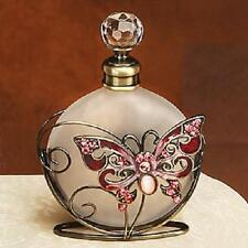 Red Butterfly Crystal Jeweled Perfume Bottle Fragrance Container Decoration