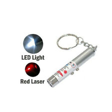 NEWEST 2-in-1 Laser Lazer Pen Pointer Keychain Keyring With torch Cat Dog Toy