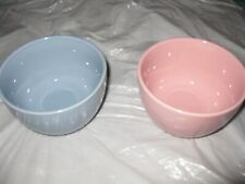 SET of 2 NEW- dessert bowls, cereal, soup, salad, fruit 1 Pink, 1 Blue