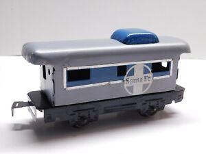 O Scale - MARX Vintage Santa Fe Caboose Train Car
