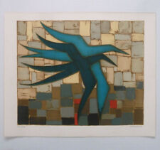 "JEAN OOSTERLYNCK ""blue birds"" fine art LITHOGRAPH limited edition HAND SIGNED nr"
