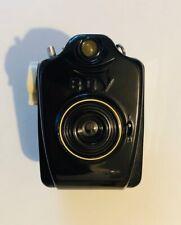 Bilora Boy vintage Bakelit Fotoapparat schwarz + Ledertasche 50 Jahre