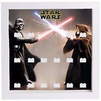 Display Case Frame for Lego Star Wars minifigures Darth Vader Obi Wan minifigs