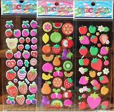 3Pcs PVC Puffy  strawber scrapbooking stickers lot-Teacher Reward Stickers Gifts