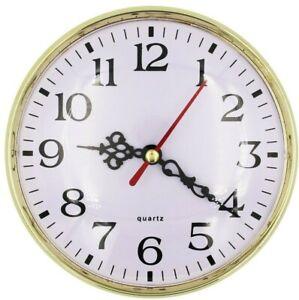 Einbau-Uhr Einsteckuhrwerk Einsteckwerk Einbauuhr ARABISCH Gold Ø 130 mm Nr. 40