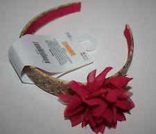 New Gymboree Island Lily Line Pink Flower Faux Cork Headband Hair Accessory NWT