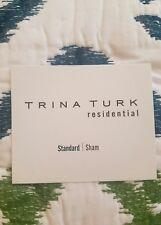 NEW TRINA TURK RESIDENTIAL VENTURA BLUE/GREEN STANDARD PILLOW SHAM