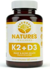 VITAMIN K2 & D3 - Naturally Supports Heart and Bone Health + Immune Support